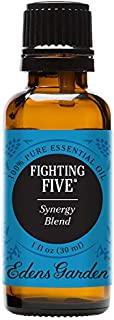 Edens Garden Fighting Five Essential Oil Synergy Blend, 100% Pure Therapeutic Grade (Highest Quality Aromatherapy Oils- Cold Flu & Detox), 30 ml