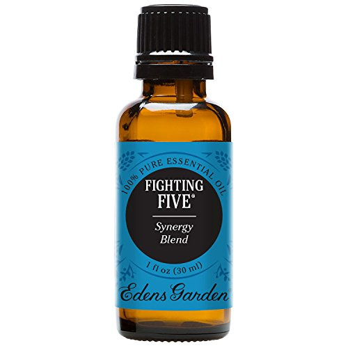 Edens Garden Fighting Five Essential Oil Synergy Blend, 100% Pure Therapeutic Grade (Cold Flu & Detox) 30 ml
