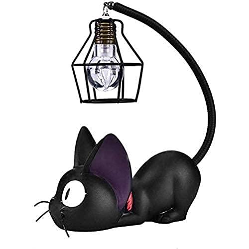 WIIBST - Servicio de entrega de Kiki – Resina creativa Kiki Cat Animal Night Light, decoración de la casa, regalo pequeña lámpara de habitación de gato para la respiración, LED lámparas de noche