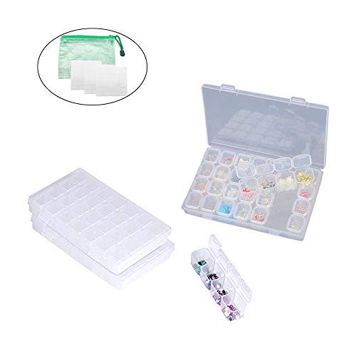 Boîte Boxe de Rangement Diamant Broderie  transparent Peinture Présentoir PVC