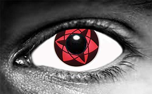 Sharingan Mangekyu Sasuke - Juego de lentes de contacto de color (sin corrección)
