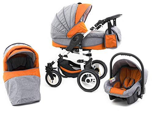 Tabbi, Eco LN,passeggino 3in 1 arancione