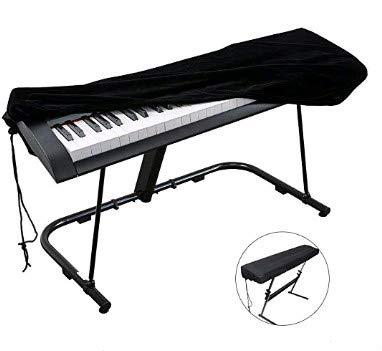 FOGAWA Copritastiera Pianoforte 88 Tasti Copertura per Pianoforte Digitale Copertura Tastiera Musicale Antipolvere Impermeabile Adatto a Pianoforte Digitale Yamaha Casio KAWAI Keyin 134x29x14CM