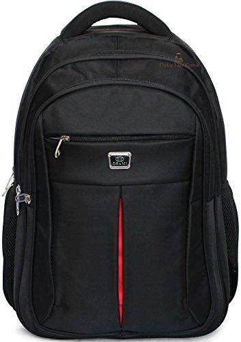 By DolceVitaRoma - Zaino con Tasca PC Laptop Ufficio e Tempo Libero Business Casual Imbottito (Nero)