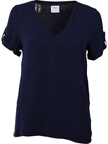 Vero Moda Vmsarah SS Midi Top Dnm A Camiseta, Azul (Navy Blazer), 34 (Talla del Fabricante: X-Small) para Mujer
