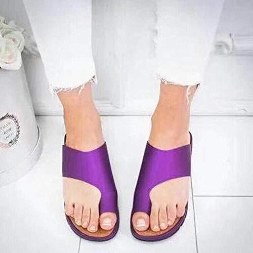 Soft Sole Pool Shoes Badkamer,Platte teen zomerslipper met platte teen, vissenzolen, vrouwelijke sandalen met dikke zolen-purple_37