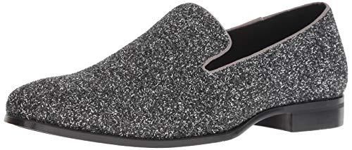STACY ADAMS Men's Swank Glitter Slip-On Loafer, Silver, 13 M US