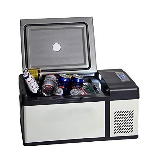 HRRF Frigorífico congelador con compresor eléctrico, -20 ° C, Mini refrigerador portátil refrigerador refrigerador, Pantalla LED, Ideal para Viajes de Campamento