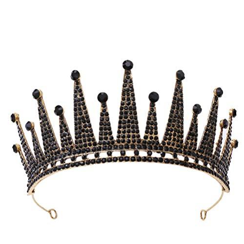 Lurrose Royal Tiara Corona barroco pelo corona vintage rhinestone boda headwear cristal...
