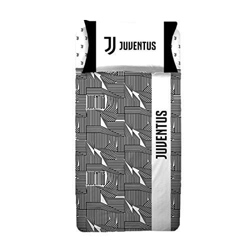Juventus Parure Copripiumino 1 Piazza e Mezza Logo Official Product - Sacco cm 200x200 Federa cm 52x80
