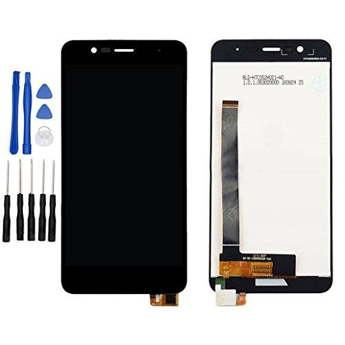 ixuan Asus ZenFone 3 Max ZC520TL X008D 修理用フロントパネル(フロントガラスデジタイザ)タッチパネル Lcd液晶パネルセット 修理工具付き (ブラック)