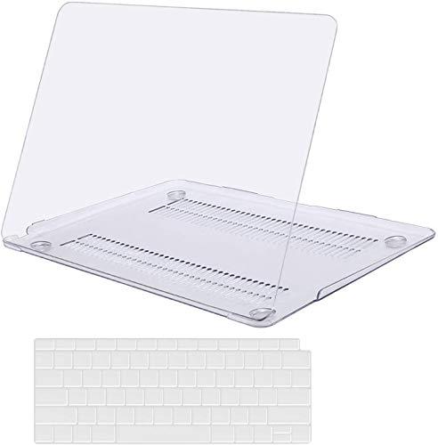 KEROM Coque pour MacBook Pro 15 Pouces 2019 2018 2017 2016 (Modèle: A1990 A1707), Transparente Plastique Coque Rigide Étui et Protection Clavier pour Macbook Pro 15 avec Touch Bar et Touch ID, Clair