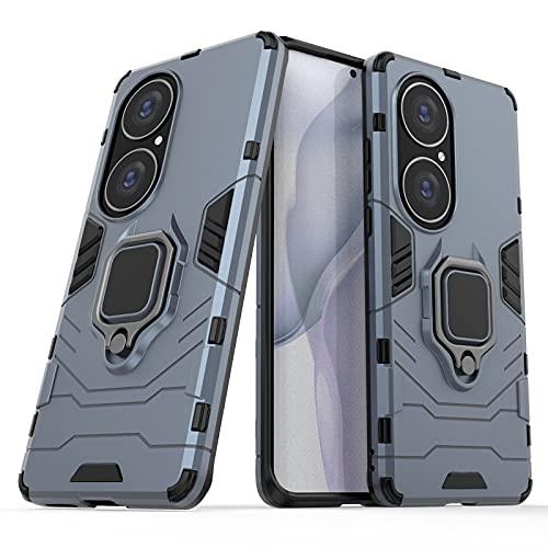 Cáscara del teléfono Para la caja del teléfono Huawei P50 Pro, caja de smartphone del anillo de rotación de 360 grados, cubierta del titular de la caja del teléfono a prueba de golpes para Huawei P5