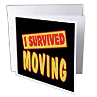 Dooni Designs Survive Sayings – I Survived Moving Survival Pride andユーモアデザイン – グリーティングカード Set of 12 Greeting Cards