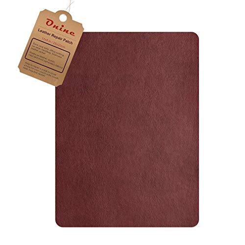 Leather Repair Patch,Self-Adhesive Couch Patch,Multicolor Available Anti Scratch Leather 8X11 Inch Peel and Stick for Sofas, car Seats Hand Bags Jackets (Wine red)