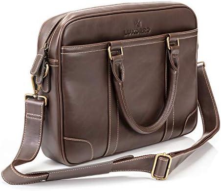 Luxorro Laptop Bag For Men Soft Messenger Bag For Men W hand Stitching Lasts A Lifetime Computer product image