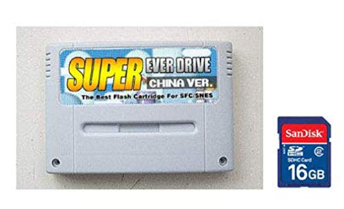 Entrega gratis Original SNES / SFC Super Everdrive Flash Cart+Tarjeta de juegos de 16 GB