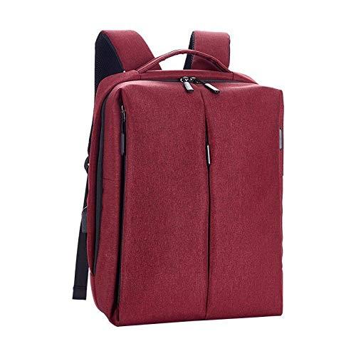 Reizen Rugzak Dual USB-poort opladen Rugzak Zakelijke Vrije tijd Grote Capaciteit Reizen Rugzak Laptop Bag-Red_15.6 Inch