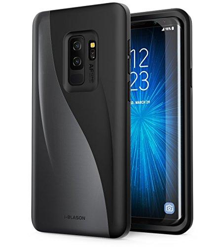 i-Blason Schutzhülle für Galaxy S9+ Plus 2018, Luna Serie Premium Hybrid-Schutzhülle (schwarz)