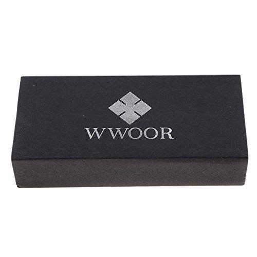 non-brand Funda de Relojes de Muñeca Papel Color Negro Dedicados Recipiente Caja de Envoltorio - Negro, 150x70x30mm