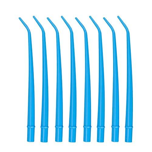 SUPVOX 25pcs Tubo de succión Instrumentos Dental desechable eyector de Saliva Dental(Azul)