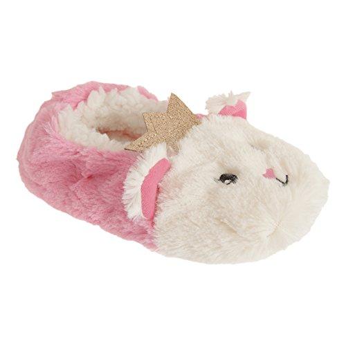 SlumberzzZ Mädchen Slip On Katze Prinzessin Hausschuhe (29-31 EU) (Pink)