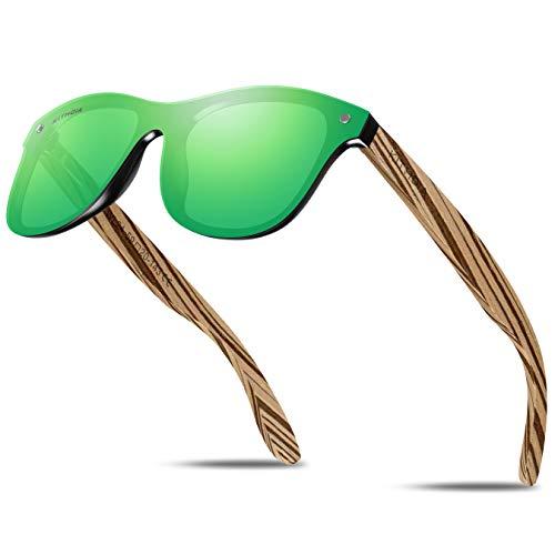 KITHDIA Polarizadas Unisex Gafas De Sol Hombre/Mujer UV400 Protección Gafas De Sol De Madera