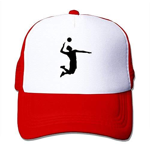 LLeaf Cappellino da Baseball Classico, Cappellino Snapback Giovanile Volleyball Sport Player - Disponibile in 8 Colori Rosso