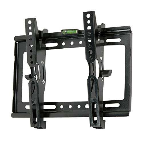 JXMTSPW Tilt TV Wall Mount Small Monitor Bracket Most 14-42 inch Flat Curved Screen Fit 22' 24' 27' 32' 39' 40' Televisions 50mm Low Profile up to VESA 250x210mm 55lbs
