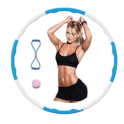N/H Hula Hoop Fitness Desmontable para niños Adultos, Alldo Wave Ejercicio Hula Hoop Wave Espuma con Banda de Ejercicio en Forma de 8, Regla de Cintura