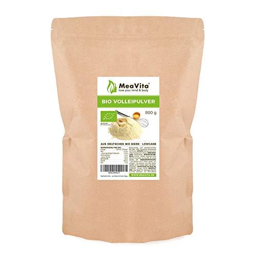 MeaVita Bio Vollei Pulver, 800g Volleipulver im Beutel, reich an Protein, ideal zum Backen & Kochen