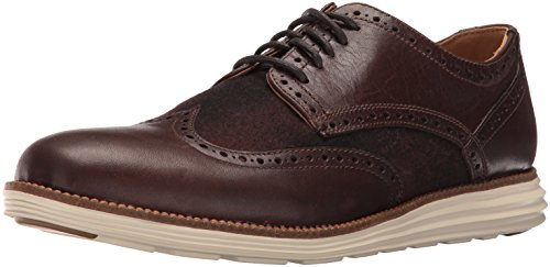 Cole Haan Men's Original Grand Wing Ox Oxford, Chestnut Leather/Brown Plaid/Ivory, 10 M US
