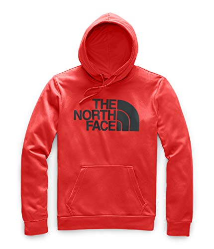 The North Face Men's Surgent Pullover Half Dome Hoodie 2.0, Fiery Red Heather, L