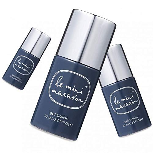 Le Mini Macaron • Vernis à Ongles UV 3 en 1 • Nail Gel Semi-Permanent • Séchage LED • Black Sésame Couleur Gris Foncé Bleuté • 10ml