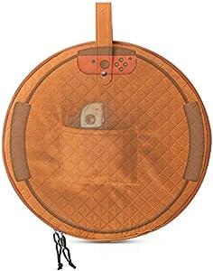 2021 Protection plus épaisse,Matériau en nylon imperméable, Sac de rangement pour le Ring-Con ,Ring Fit Adventure,Trois couches,Sac de rangement portable,Etanche,Protection totale Brun