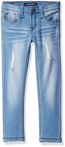 Vigoss Girls' Little 5 Pocket Skinny Jean, Ryder, 6
