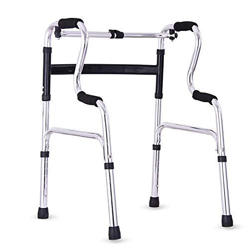 Déambulateur réglable robuste et relevable en fauteuil roulant électrique - Déambulateurs médicaux pour adultes de 6 lb - Déambulateur vertical se pliant pour un rangement et un transport faciles