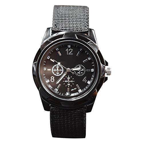 Katigan Relojes Militares de Tejer Reloj Ejercito Fuerzas de Tierra, Mares y aereas Reloj Deportivo, Negro