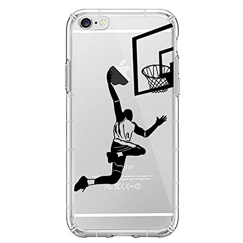 YHong iPhone 6S Basketball Case,iPhone 6 3D Emboss Soft Silicon Case, Personality Dunk Shot Case, Clear Printed Design Fashion Pattern Soft Flexible TPU Back Cover for iPhone 6/6S