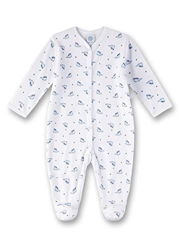 Sanetta Baby-Jungen Overall Strampler, Weiß (White 10), 80 (Herstellergröße: 080)