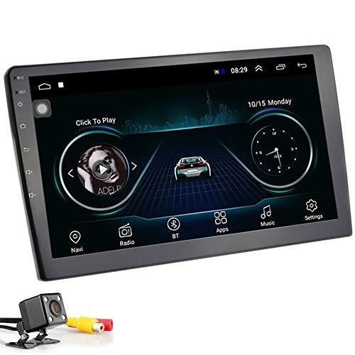 PolarLander 10 Pollici Android 8.1 Autoradio Universale 2 DIN Android Autoradio Lettore Stereo Navigazione GPS Lettore WiFi Bluetooth MP5 con Telecamera Posteriore
