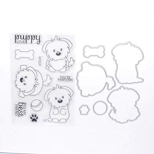 Welcome to Joyful Home Puddy Metal Cutting Dies Stamp Stencils DIY Scrapbooking Photo Album Decor Cards (Clear Stamp+Dies Cutting)