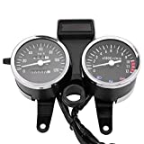 Fydun Cuentakilómetros Motocicleta Velocímetro del Tacómetro de la moto 12V DC Odómetro para Suzuki GN125