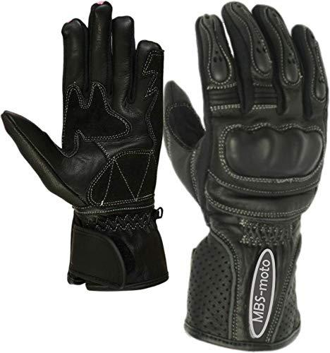 MBSmoto GLL13 - Guantes de protección para motocicleta (S, negro)