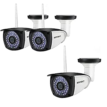 WiFi Camera Outdoor SV3C 1080P Full HD Two Way Audio Security Camera Motion Detection IP Cameras 36pcs IR LED Night Vision Surveillance Alarm Cam Support SD Card 【1 Piece+2 Pack】