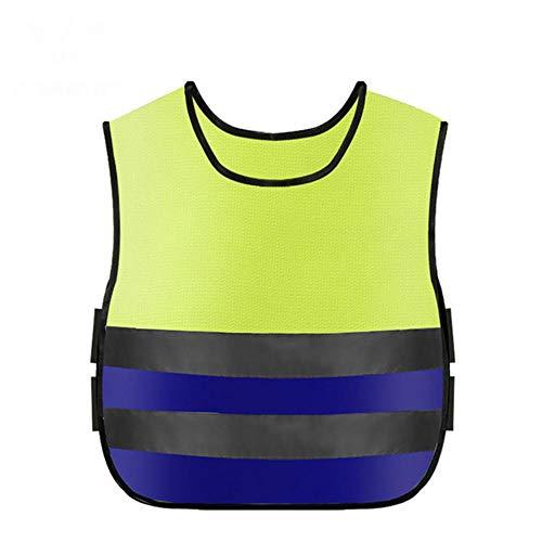 Reflecterend vest waarschuwingsvest reflecterend kinder veiligheidsreflector vest met elastische heupriem voor nachtactiviteiten in de vrije natuur of bouwvakkundig kostuum groothandel # 2L25 blauw