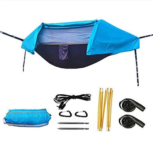 Ruixf Tienda Hamaca con mosquitera para 2 Personas, Ultraligera, portátil, Impermeable, antimosquitos, Acampada al Aire Libre, mochilero, Viajes de Supervivencia