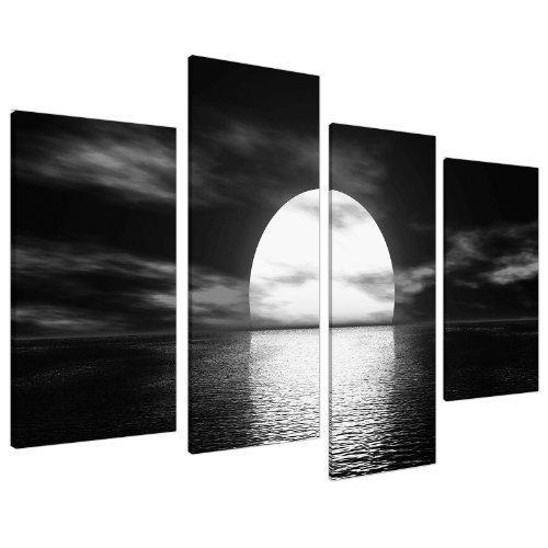Wallfillers Cuadros en Lienzo Grande Blanco y Negro Imágenes XL 130cm Ancho | 4003