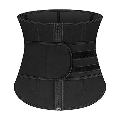 Cumio Stalen zonder botten taille trainer korset cincher sauna zweet sport riem afnemen shaper buiktrimmer riem modellering