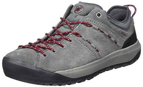 Mammut Hueco Low GTX, Zapatillas para Carreras de montaña Mujer, Grey-Dark Beet, 36 EU